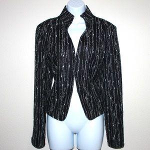 Lafayette 148 New York Jackets & Coats - LAFAYETTE 148 Specked Vertical Tweed Jacket